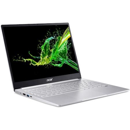 "Laptop ultraportabil Acer Swift 3 SF313-52 cu procesor Intel® Core™ i5-1035G4 pana la 3.70 GHz, 13.5"", QHD, 8GB, 256GB SSD, Intel UHD Graphics, Windows 10 Home, Silver"