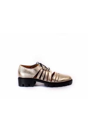 Pantofi de vara Loisa Elenis Sand, Passofino, Piele naturala, Auriu, 40 EU