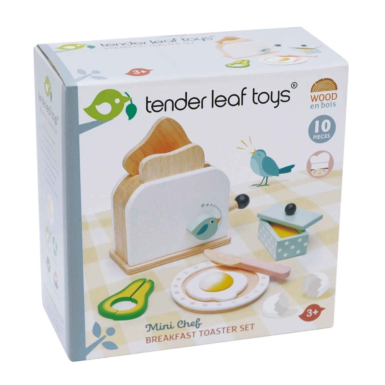 Fotografie Set de joaca din lemn Tender Leaf Toys - Prajitor de paine, 10 piese