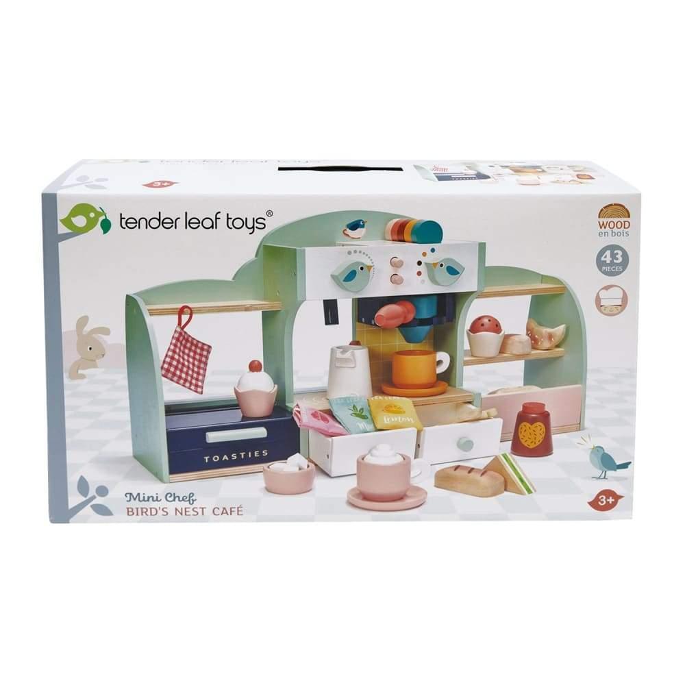 Fotografie Set de joaca din lemn Tender Leaf Toys - Cafeneaua Bird's Nest, 43 piese