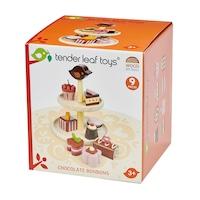 Tender Leaf Toys Fa játék szett - Csokoládés sütemények, 9 db