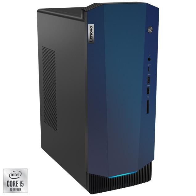 Fotografie Sistem Desktop Gaming Lenovo IdeaCentre G5 14IMB05 cu procesor Intel® Core™ i5-10400F pana la 4.30 GHz, Comet Lake, 8GB DDR4, 512GB SSD, NVIDIA GeForce GTX 1660 SUPER 6GB GDDR6, Free DOS