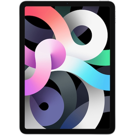 """Apple iPad Air 4 tablet, 10,9"""" retina kijelző, A14 Bionic chip, 64GB memória, Wi-Fi, iPadOS 14 - Ezüst"""