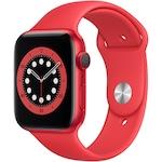 Apple Watch 6, GPS, Cellular, Carcasa Red Aluminium 44mm, Red Sport Band