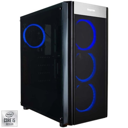 Sistem Desktop PC Gaming Serioux cu procesor Intel® Core™ i5-10400F pana la 4.30GHz, 8GB DDR4, 500GB SSD, Radeon™ RX 550 4GB GDDR5, Microsoft Windows 10 Home