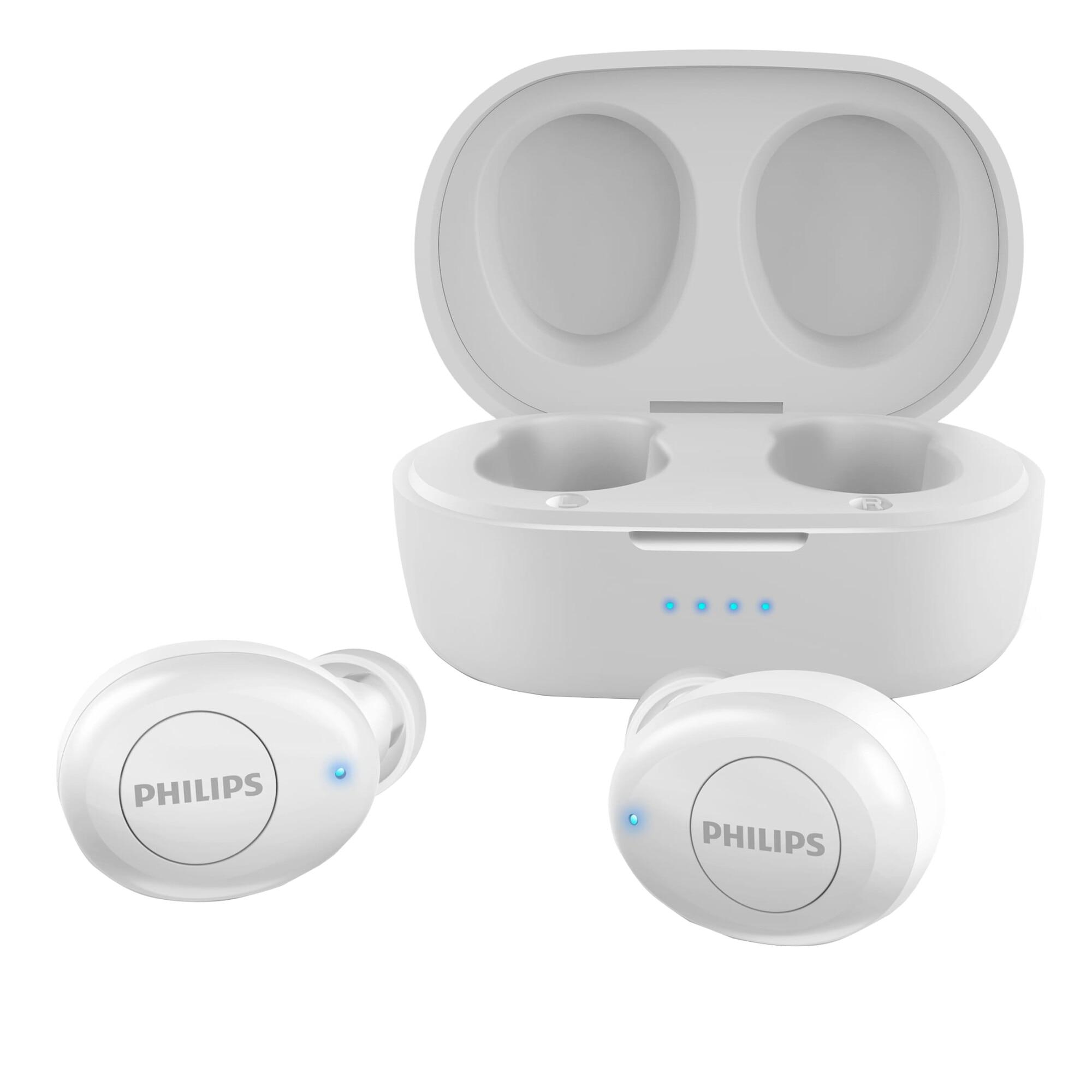 Fotografie Casti Audio In-Ear Philips, TAT2205WT/00, True Wireless, Autonomie 4h, Alb
