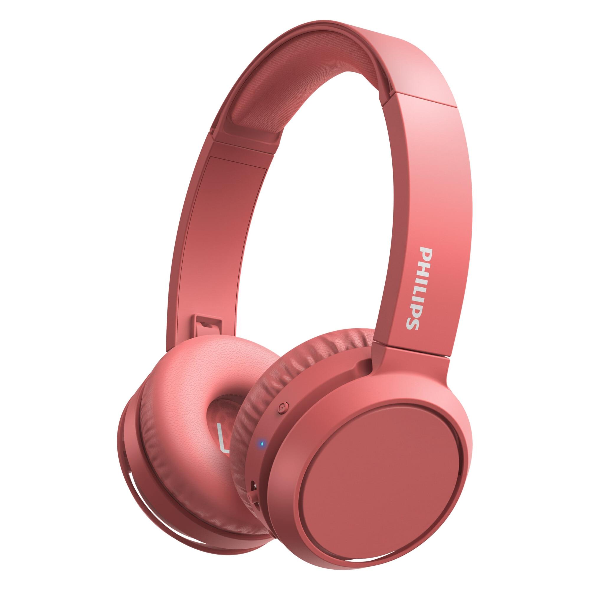 Fotografie Casti Audio On-Ear Philips, TAH4205RD/00, Bluetooth, Autonomie 29h, Rosu