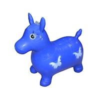 Gumi ló ugrásra, zenés, kék színű, Robentoys®