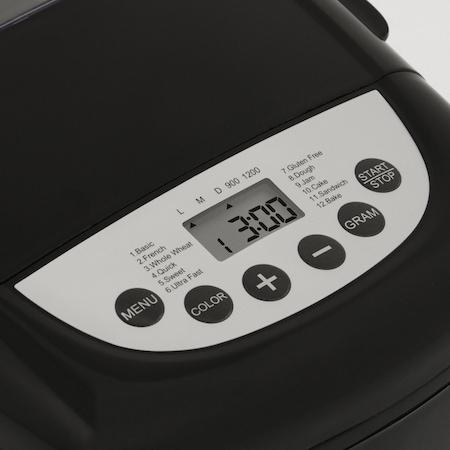 Masina de paine Star-Light MPD-800BL, 12 programe, 800W, Capacitate 1200g, Negru