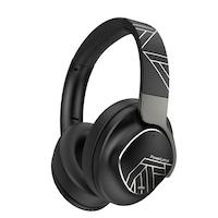 PowerLocus MoonFLY Bluetooth fejhallgató,70 óralejátszási idő, ,vezeték nélküli fül köré illeszkedő összehajtható (Szürke-Fekete)