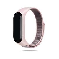 Xiaomi Mi Band 3 / Mi Band 4 / Mi Band 5 okoskarkötő tépőzáras pótszíj rózsaszín
