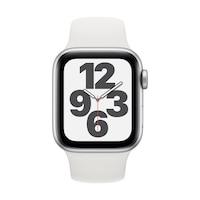 Apple Watch SE GPS + Cellular, 40 mm-es ezüst alumínium tok fehér sportszíj