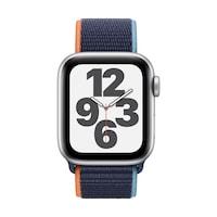 Apple Watch SE GPS + Cellular, 40 mm-es ezüst alumínium tok kék sportpánt