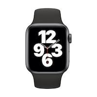Apple Watch SE GPS + Cellular, 40 mm asztroszürke alumínium tok fekete sportszíj