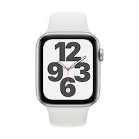 Apple Watch SE GPS + Cellular, 44 mm-es ezüst alumínium tok fehér sportszíj