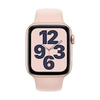 Apple Watch SE GPS + Cellular, 44 mm-es arany alumínium tok rózsaszín homok sportszíj