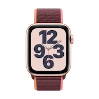 Apple Watch SE GPS + Cellular, 44 mm-es arany alumínium tok szilva sportpánt