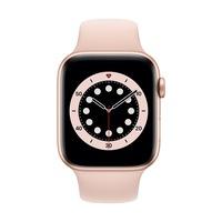 Apple Watch Series 6 GPS, 44 mm-es arany alumínium tok rózsaszín homok sportszíj