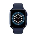 Apple Watch Series 6 GPS, 44 mm-es kék alumínium tok kék sportszíj