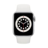 Apple Watch Series 6 GPS + Cellular, 40 mm-es ezüst alumínium tok fehér sportszíj