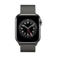Apple Watch Series 6 GPS + Cellular, 40 mm-es grafit rozsdamentes acél tok grafit milánói pánt