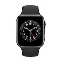 Apple Watch Series 6 GPS + Cellular, 44mm grafit rozsdamentes acél tok fekete sportszíj