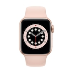 Apple Watch Series 6 GPS, 40 mm-es arany alumínium tok rózsaszín homok sportszíj