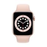 Apple Watch Series 6 GPS + Cellular, 44 mm-es arany alumínium tok rózsaszín homok sportszíj