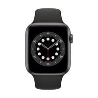 Apple Watch Series 6 GPS + Cellular, 44 mm asztroszürke alumínium tok fekete sportszíj