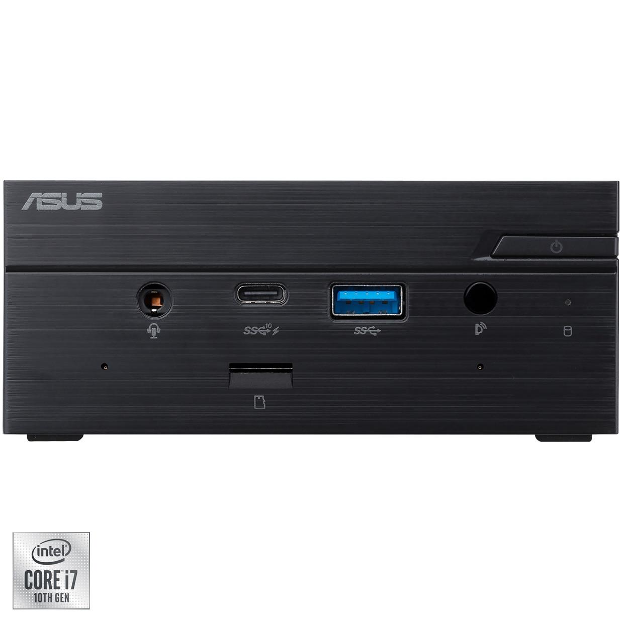 Fotografie Mini PC ASUS PN62-BB7005MD cu procesor Intel® Core™ i7-10510U pana la 4.90GHz, fara RAM, fara stocare, Intel® UHD Graphics, No OS