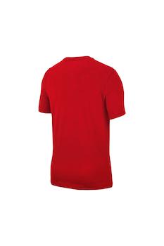 Nike, Tricou de bumbac Icon Futura, Rosu/Galben