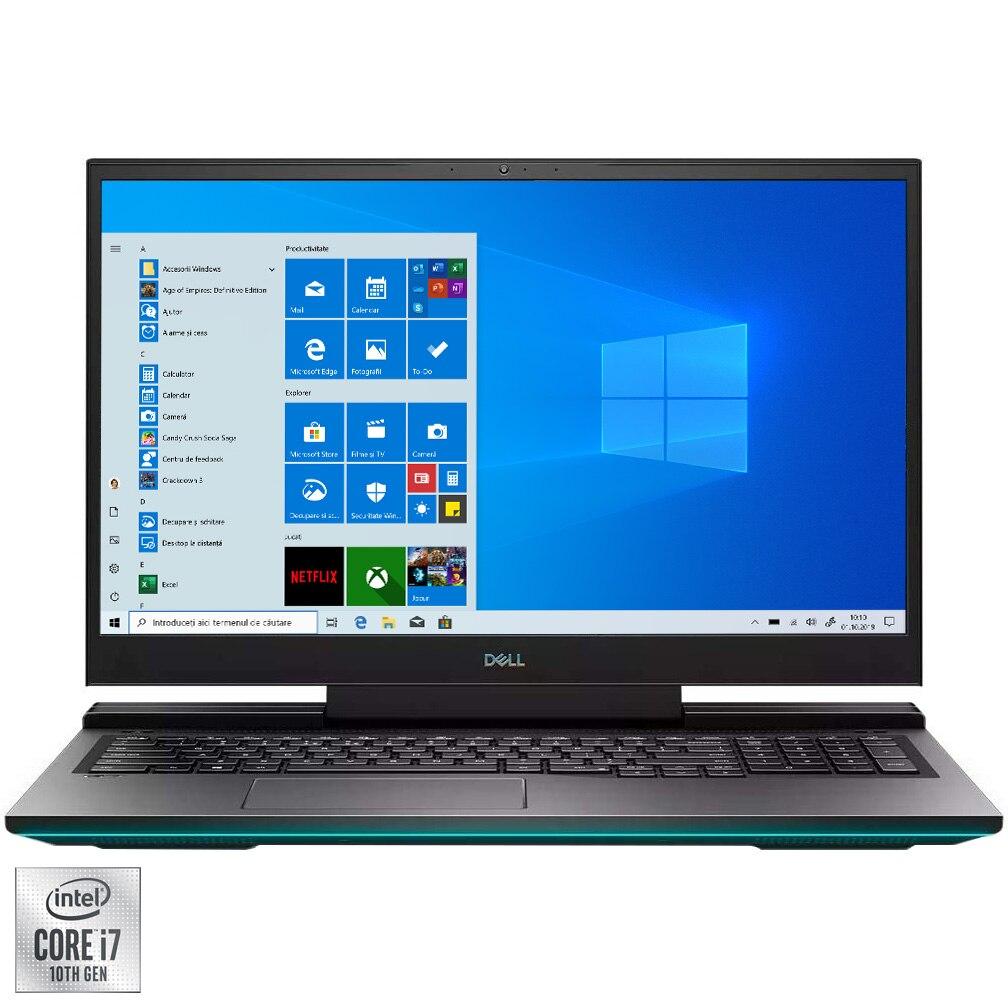 "Fotografie Laptop Gaming Dell Inspiron G7 17 7700 cu procesor Intel Core i7-10750H pana la 5.00 GHz, 17.3"", Full HD, 144Hz, 16GB, 512GB SSD, NVIDIA GeForce GTX 1660 Ti 6GB, Windows 10 Pro, Mineral Black"