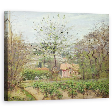 Tablou canvas - Camille Pissarro - Cabana, sau Casa roz - Hamlet of the Flying Heart, 60 x 75 cm