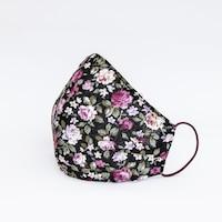 3 rétegű mosható textil maszk G3 szűrővel - kék rózsás - S (gyerek) méret