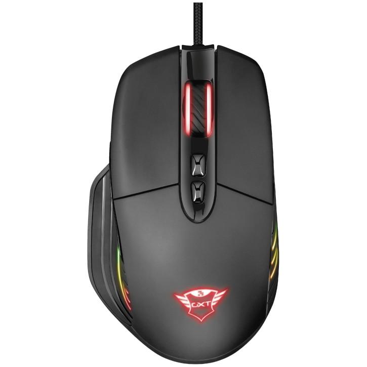 Fotografie Mouse gaming Trust GXT 940 Xidon, ergonomic, software programare, iluminare RGB