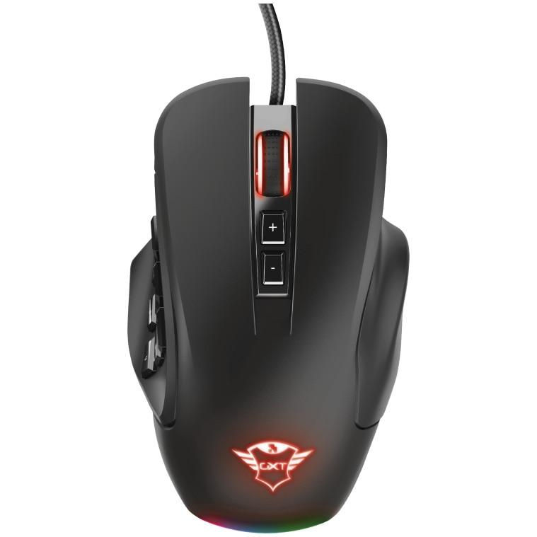 Fotografie Mouse gaming Trust GXT 970 Morfix, customizabil 4 module, software programare, iluminare RGB