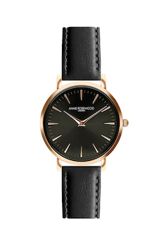 Annie Rosewood, Овален аналогов часовник, Розово-златист / Черен