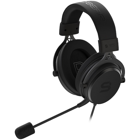Слушалки Gaming SPC Gear Viro Plus, Високоговорители 53 мм, Surround 7.1, USB, Мултиплатформени, Черен
