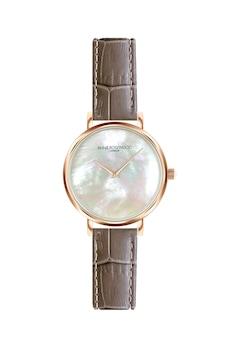 Annie Rosewood, Часовник със седефен циферблат и кожена каишка, Розе/кафяв/бял