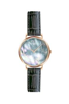 Annie Rosewood, Кварцов часовник с кожена каишка, Розово-златист / Черен