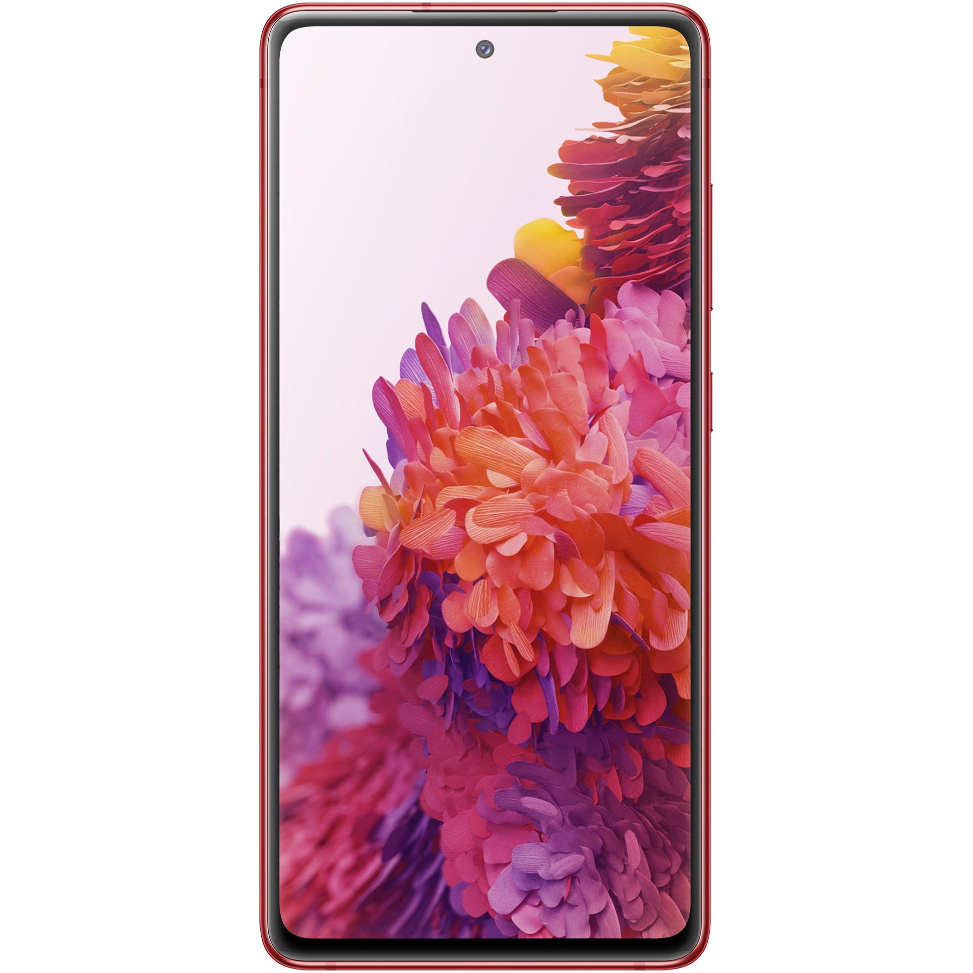 Fotografie Telefon mobil Samsung Galaxy S20 FE, Dual SIM, 128GB, 6GB RAM, 4G, Cloud Red