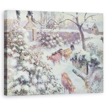 Tablou canvas - Camille Pissarro - Efect de turma, 60 x 75 cm