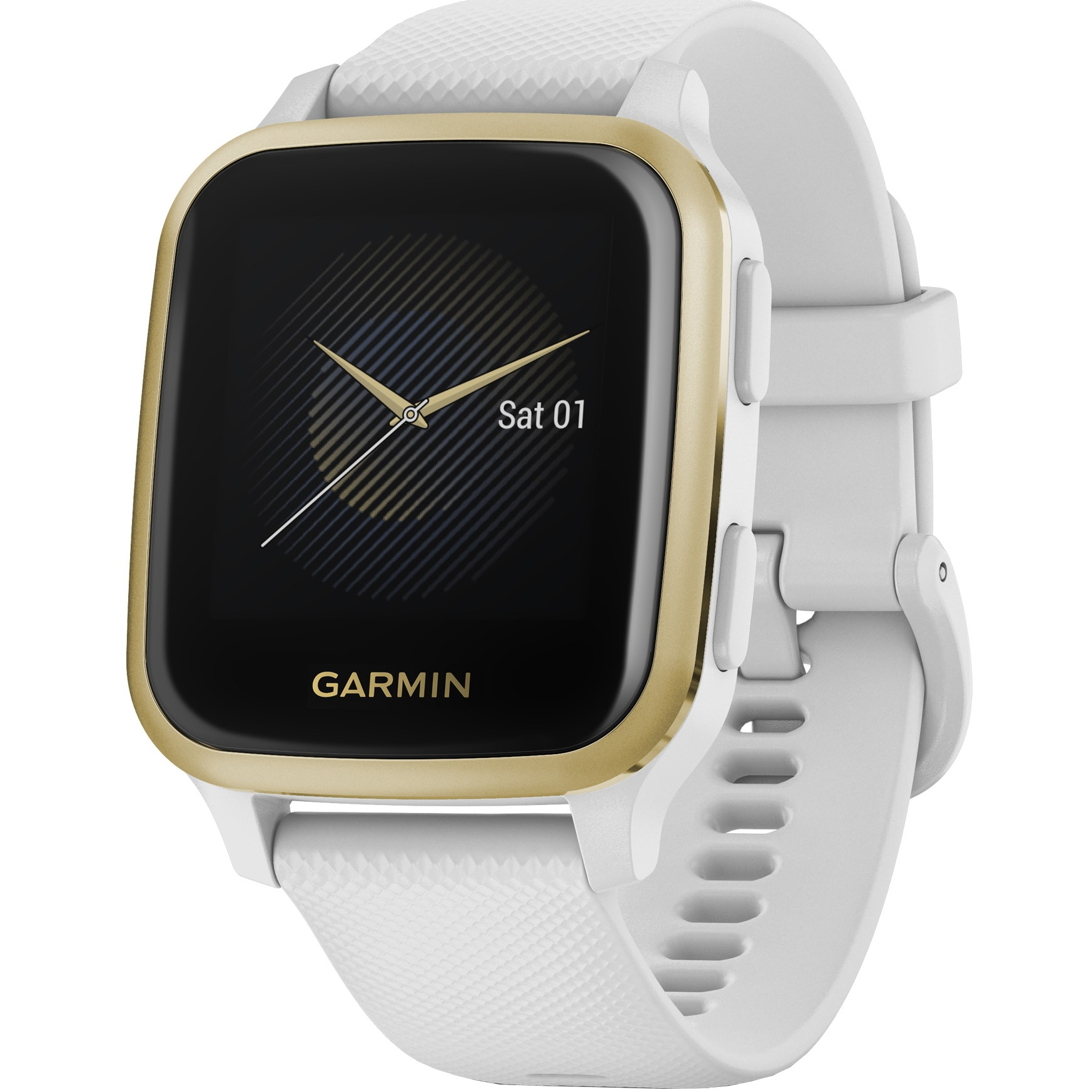 Fotografie Ceas smartwatch Garmin Venu Sq, White/Light Gold