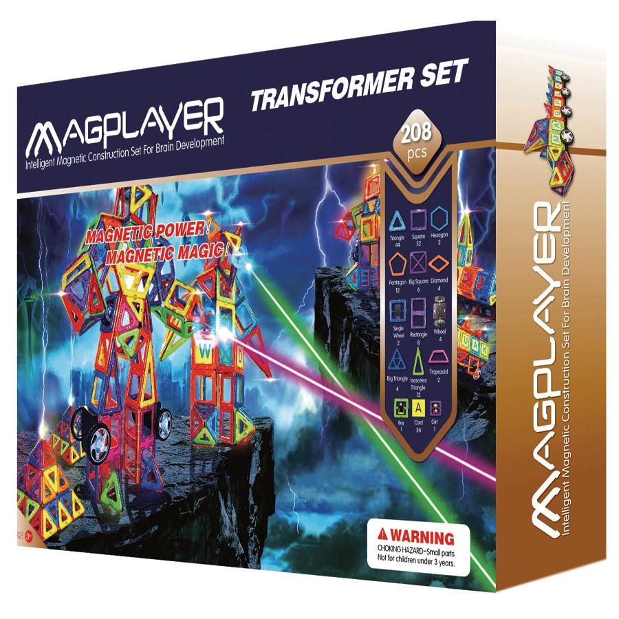 Fotografie Set de constructie magnetic Magplayer - Transformer, 208 piese