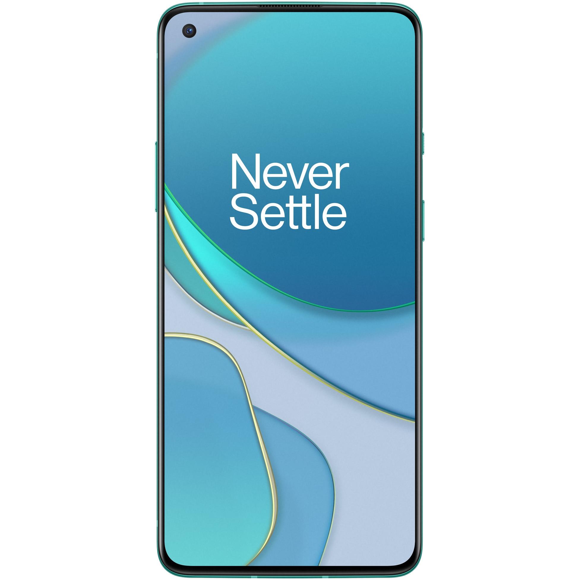 Fotografie Telefon mobil OnePlus 8T, Dual SIM, 128GB, 8GB RAM, 5G, Aquamarine Green