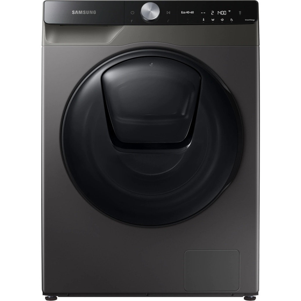 Fotografie Masina de spalat rufe Samsung WW90T754DBX/S7, 9 kg, 1400 RPM, Clasa A, QuickDrive, AI Control, Add Wash, Steam, Super Speed 39, Motor Digital Inverter, Wifi, Inox