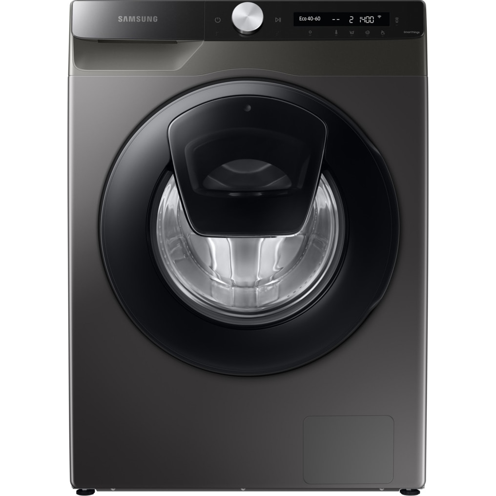 Fotografie Masina de spalat rufe Samsung WW90T554DAX/S7, 9 kg, 1400 RPM, Clasa A, Add Wash, AI Control, Steam, Eco Bubble, Drum Clean, Motor Digital Inverter, Wifi, Inox