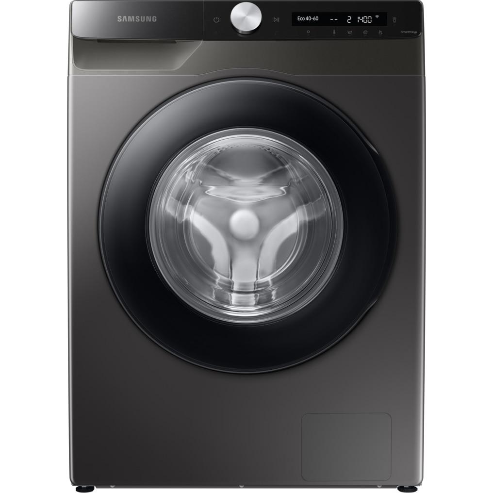 Fotografie Masina de spalat rufe Samsung WW80T534DAX/S7, 8 kg, 1400 RPM, Clasa B, Auto-Dispenser, AI Control, Steam, Eco Bubble, Drum Clean, Motor Digital Inverter, Wifi, Inox