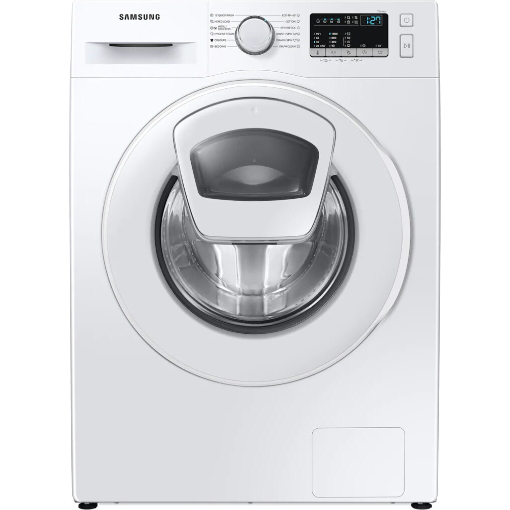Fotografie Masina de spalat rufe Samsung WW90T4540TE/LE, 9 kg, 1400 RPM, Clasa D, Add Wash, Steam, Drum Clean, Smart Check, Motor Digital Inverter, Alb