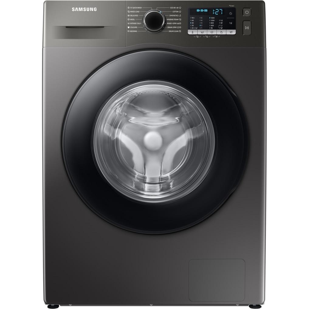 Fotografie Masina de spalat rufe Samsung WW70TA046AX/LE, 7 kg, 1400 RPM, Clasa B, Eco Bubble, Bubble Soak, Steam, Smart Check, Motor Digital Inverter, Inox